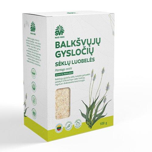Balkšvųjų gysločių sėklų luobelės,100 g (AC)