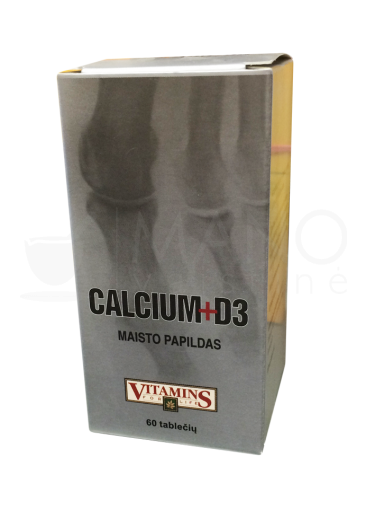 calcium d3 vitamins for life tabletes n60