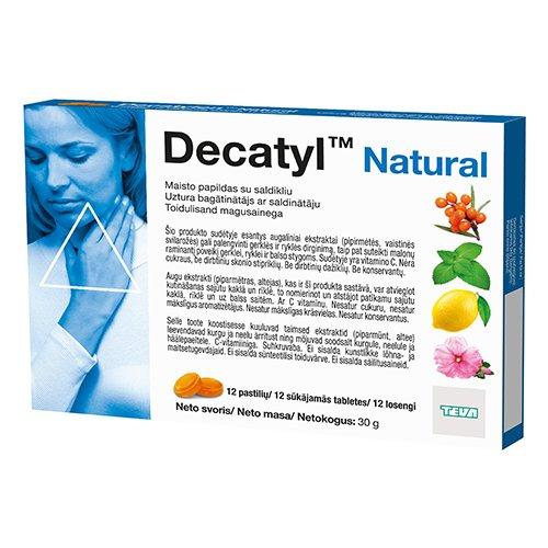 Decatyl Natural kietosios pastilės N12