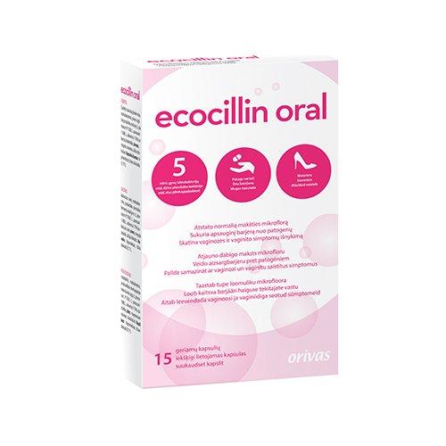 Ecocillin oral kapsulės, N15