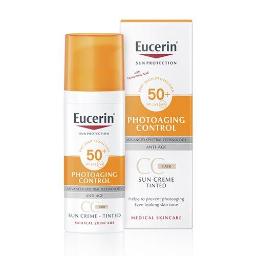 EUCERIN  Photo Aging control atsp.suteik. CC kremas nuo saulės SPF50+ vid.šviesus 50ml