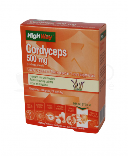 highway cordyceps 500mg caps n30