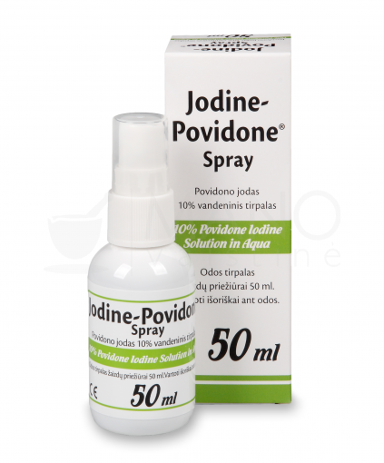jodine povidone 10 50 ml spray foto