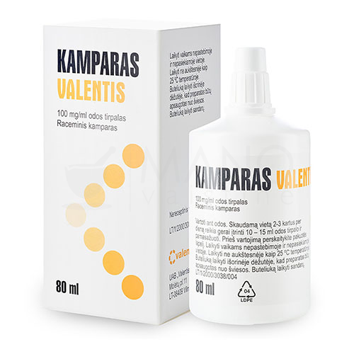 kamparas bp 10 odos tirpalas 80 ml