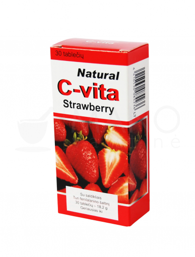 natural c vita strawberry 60mg tab n30