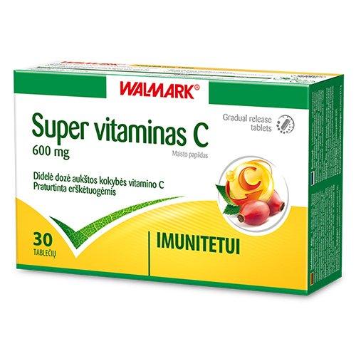 Super vitaminas C, 600 mg tabletės, N30