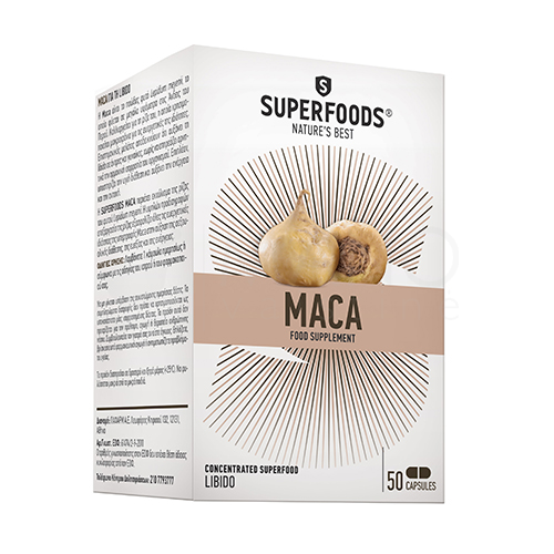 SUPERFOODS Maca, 50 kapsulių