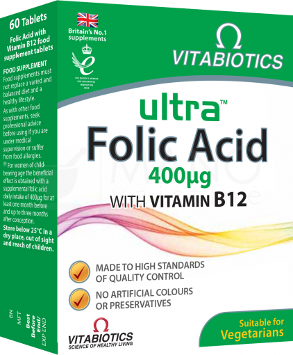 ultra folic acid 60 tabs