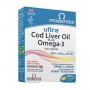 Ultra Cod Liver Oil plus Omega-3, 60 kapsulių
