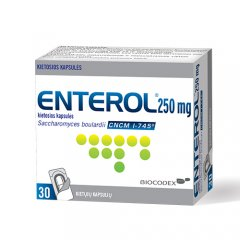 Enterol 250mg caps.N30 (blisteriai)