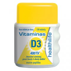 Healthilife Vitaminas D3 400 TV, N120