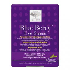 New Nordic Blue Berry Eye Stress, 60 tablečių