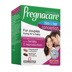 PREGNACARE Him and Her Conception, 60 tablečių