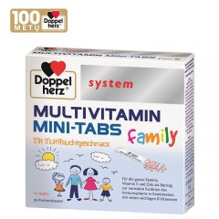 Doppelherz system Multivitamin Mini - Tabs family Direct paketėliai N20