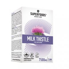SUPERFOODS MILK THISTLE, 50 kapsulių
