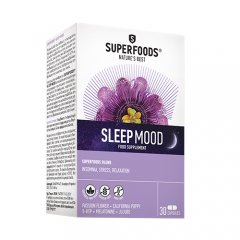 SUPERFOODS SLEEPMOOD, 30 kapsulių