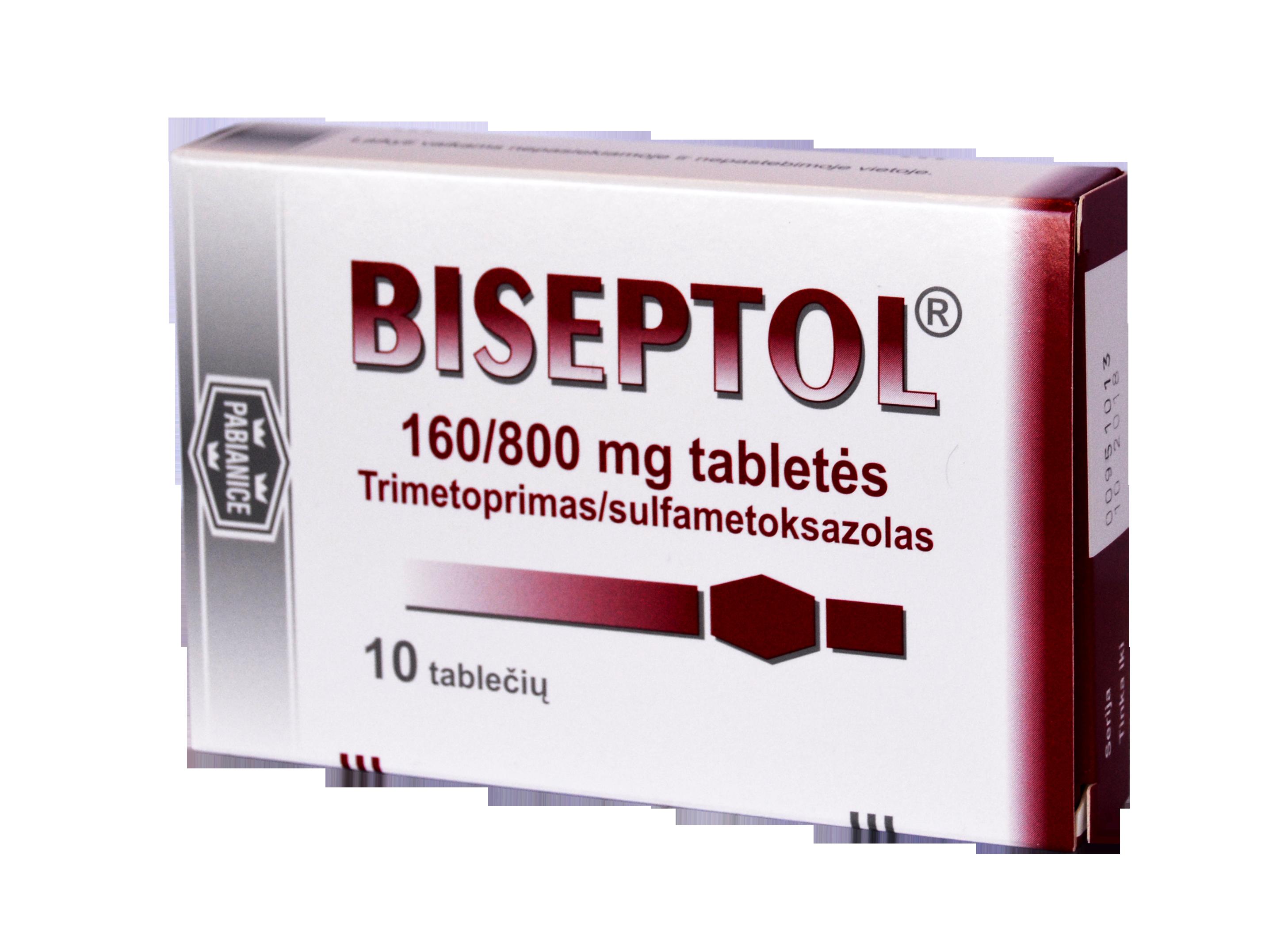 Medicine Biseptol. Instructions for use 12