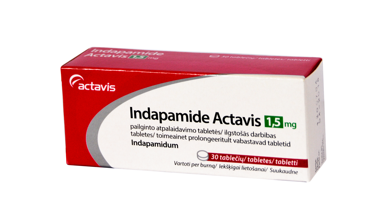Indapamide Actavis 20.20 mg pailginto atpalaidavimo tabletės N20