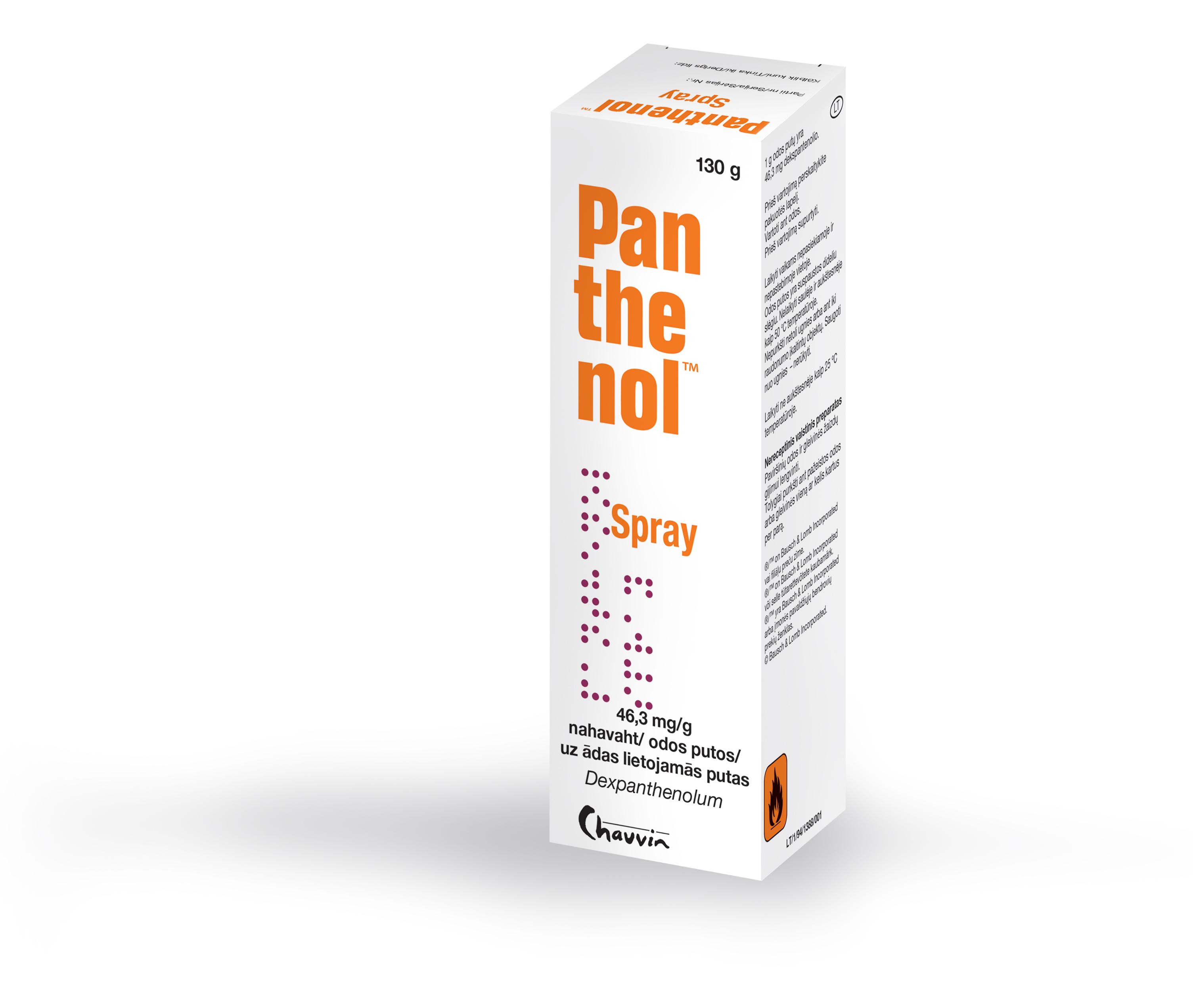 How to apply spray panthenol